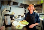 02/10/14 Food4Food Cafe Food4Food cafe run by homelessness charity Wintercomfort, St Andrew's Hall, St Andrew's Road, Cambridge. Susan Smyth Kitchen Supervisor. Picture: Keith Heppell