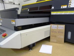 Mimaki UV LED flatbed printer at Victoire